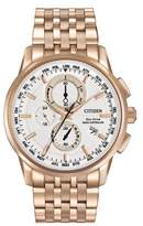 Citizen AT8113-55A Rose Gold/White Analog Eco-Drive Men's Watch