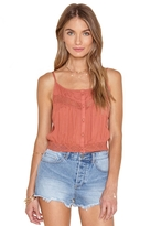 Amuse Society Jaylen Lace Inset Button Cami