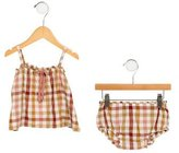 Bonpoint Girls' Checkered Bloomers Set