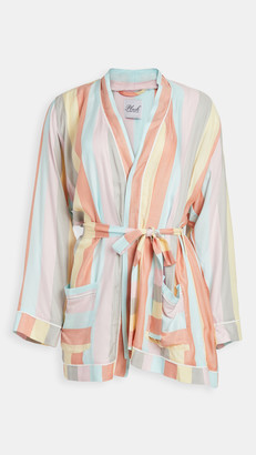 Plush Ultra Soft Rainbow Stripe Robe
