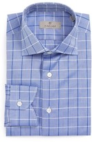 Canali Men's Regular Fit Windowpane Dress Shirt