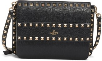 Valentino Garavani Small Rockstud Calfskin Leather Shoulder Bag