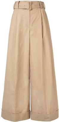 System Belted Cropped Trousers