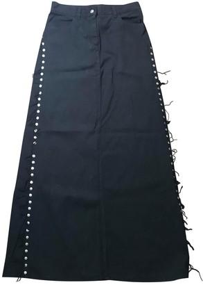 Jean Paul Gaultier Black Cotton Skirt for Women Vintage