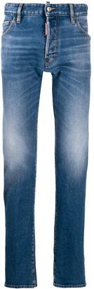 DSQUARED2 Stonewashed Straight-Leg Jeans