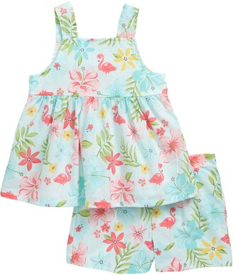 Little Me Tropical Tunic & Shorts Set