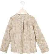 Bonpoint Girls' Printed Long-Sleeve Top