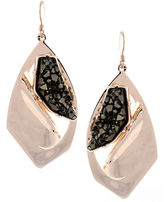 BCBGeneration Earrings, Rose Gold Tone Rock Crystal Earrings