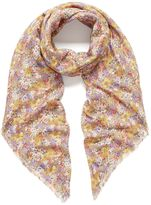 Mulberry Betty Floral Square Lilac Silk Modal Blend