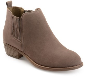 Brinley Co. Women's Stacked Heel Faux Suede Ankle Boots
