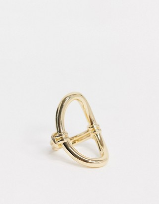 NY:LON Gold Oval Ring