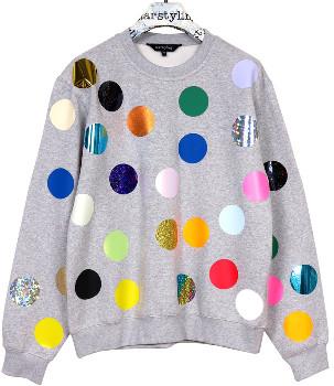 "starstyling - ""Balls"" Sweater - Size XS - Grey/Blue/Brown"