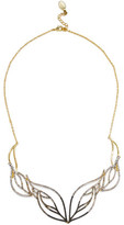 Noir Brillant Gold-Tone Crystal Necklace