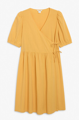Monki Midi wrap dress