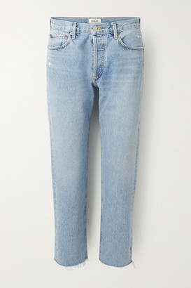 AGOLDE Parker Cropped High-rise Straight-leg Jeans - Light denim