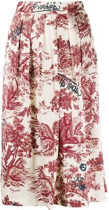 Zadig & Voltaire Floral Print Skirt