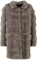 Simonetta Ravizza oversized coat - women - Silk/Mink Fur - 42