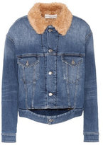 Golden Goose Deluxe Brand Faux fur-lined denim jacket