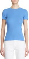 Ralph Lauren Ribbed Silk Short-Sleeve Sweater
