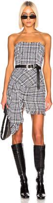 Faith Connexion Tweed Bustier Dress in Black & White | FWRD
