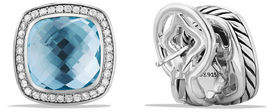 David Yurman 11mm Albion Earrings with Diamonds