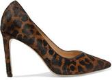 Sandro Leopard-Print Calf Hair Pumps