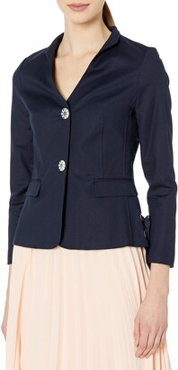 Nanette Lepore Women's Long Sleeve Jacket with Side Lace up