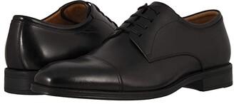 Florsheim Amelio Cap Toe Oxford (Black Smooth) Men's Lace Up Cap Toe Shoes