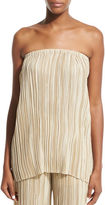 The Row Tabi Strapless Pleated Silk Top
