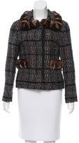 Dolce & Gabbana Fur-Trimmed Wool Jacket
