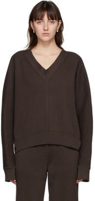 LE 17 SEPTEMBRE LE17SEPTEMBRE Brown Dolman V-Neck Sweater