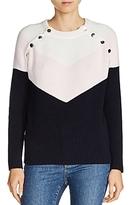 Maje Mariana Color Block Sweater