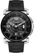 Diesel Stainless Steel and Leather Hybrid Smartwatch