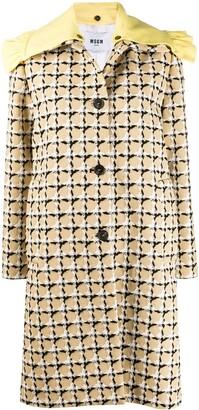 MSGM Bold Check Print Coat
