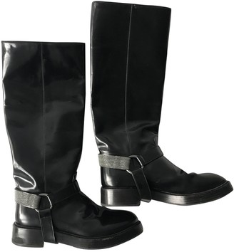 Brunello Cucinelli Black Patent leather Boots