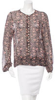 Etoile Isabel Marant Long Sleeve Floral Print Top