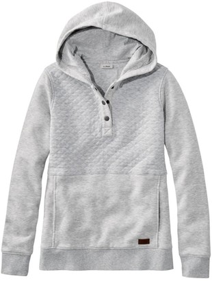 L.L. Bean Women's Quilted Sweatshirt, Hooded Pullover