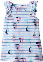 Girls 4-10 Jumping Beans® Print Flutter-Sleeve Tank