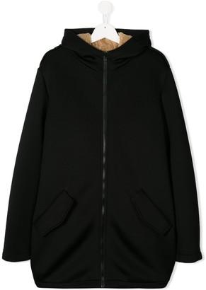 Douuod Kids TEEN hooded zip-up jacket