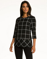 Le Château Windowpane Check Crew Neck Tunic