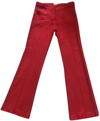 Kenzo Red Cotton Jeans for Women