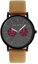 Ted Baker Men's Quartz Leather Strap Watch