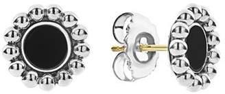 Lagos Sterling Silver Maya Black Onyx Stud Earrings
