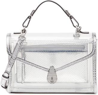 Calvin Klein Statement Series Snakeskin Print Clear Crossbody Bag