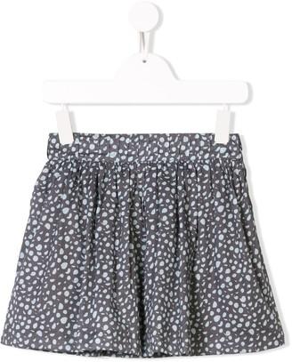 Knot Polka-Dot Flared Skirt
