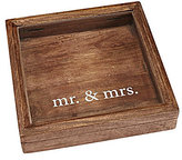 Mud Pie Wedding Collection Mr. & Mrs. Mango Wood Keepsake Shadow Box