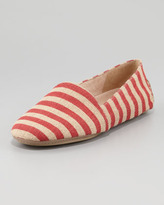Eileen Fisher Striped Canvas Slip-On Loafer