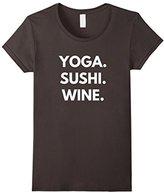 Yoga Sushi Wine t-shirt - Yoga Tees