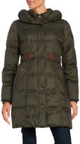 Larry Levine Belted Down Puffer Coat
