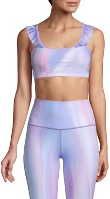Wear It To Heart Prizma Fleur Ruffle Sports Bra